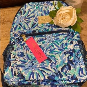 New Lilly Pulitzer backpack floral blue